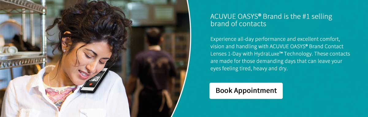 ACUVUE OASYS® Brand is the #1 selling brand of contacts